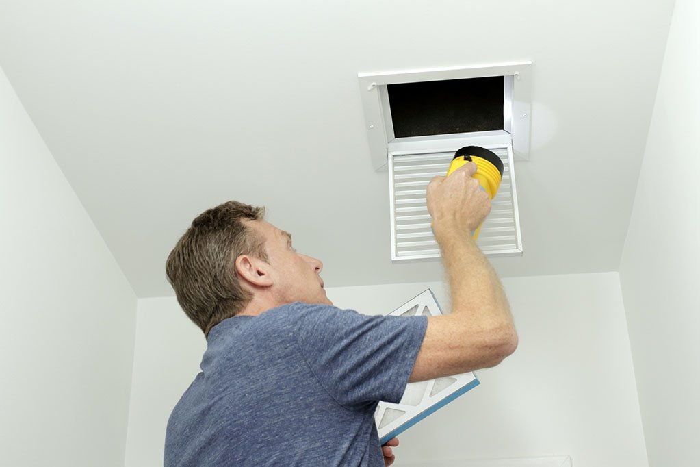 Checking Air Ducts in Home HVAC System